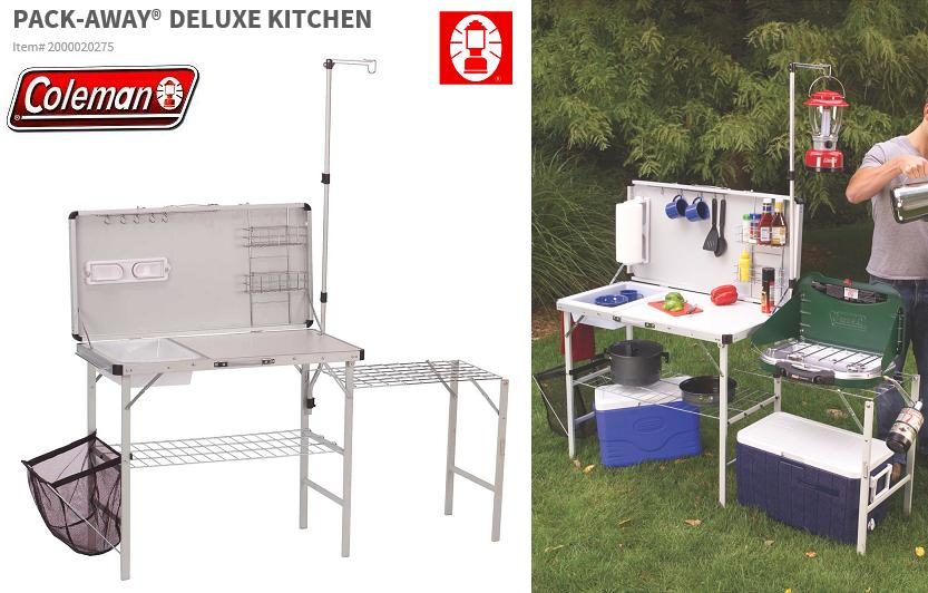 coleman camp kitchen with sink board cooker japan 未発売 products coleman camp kitchen 8243