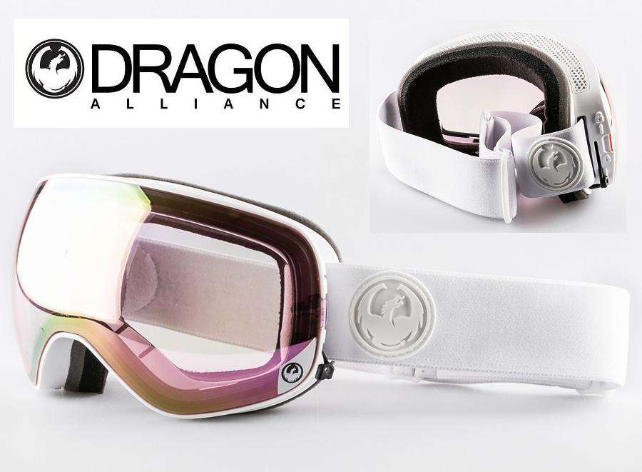 DRAGON ASIAN-FIT ドラゴン ゴーグル GOGGLE 17 X2s WHITE OUT PINK
