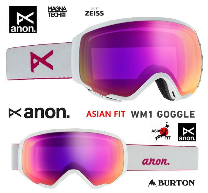 ANON アノン ASIAN FIT ゴーグル 2020 WM1 GOGGLE PEARL WHITE SONAR PINK