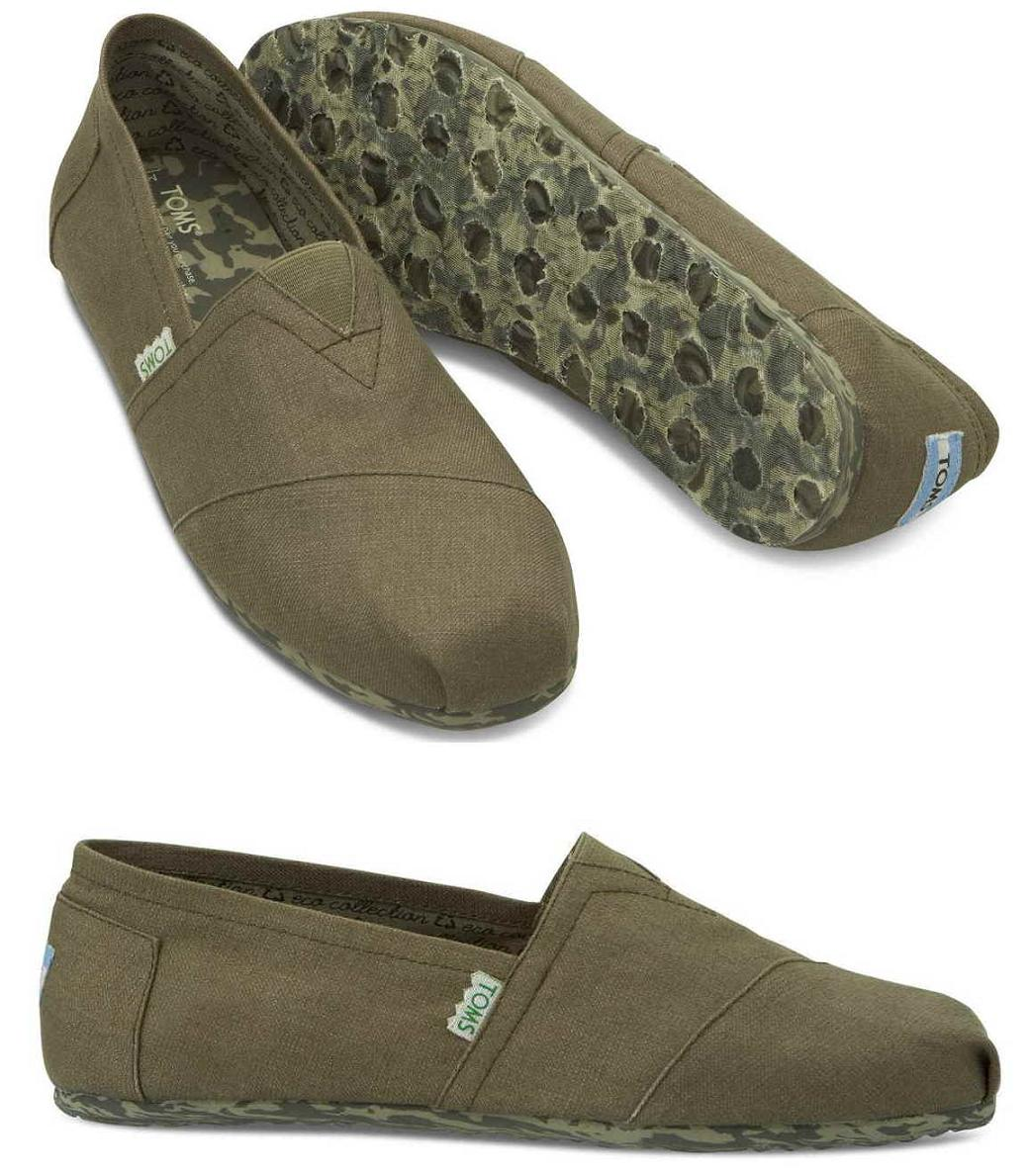 Thoms Toms Shoes Canvas Classics Earthwise Light Grey Recyclable