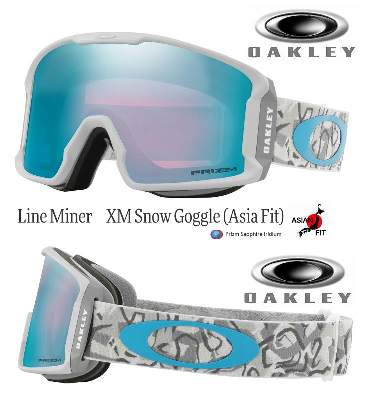 499d9a5003 JAPAN-FIT □ 2019 □ OAKLEY LINE MINER XM CAMO VINE SNOW PRIZM SAPPHIRE □  OO7094-08□ Japan fitting □ line minor XM □ Oakley □ goggles□