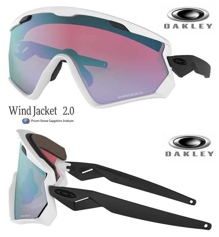 6f5de114d3 □2019 □ OAKLEY WIND JACKET 2.0 MATTE WHITE PRIZM SNOW SAPPHIRE □  OO9418-0345□ □With wind jacket □ Oakley □ snow goggle □ strap□