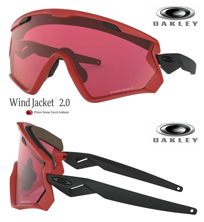 4e94d06646 □2019 □ OAKLEY WIND JACKET 2.0 VIPER RED PRIZM SNOW TORCH □ OO9418-0645□  □With wind jacket □ Oakley □ snow goggle □ strap□