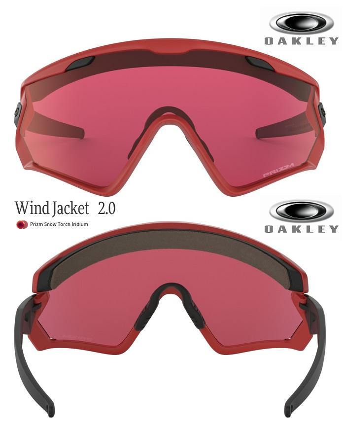 10bf1c52fef90 □2019 □ OAKLEY WIND JACKET 2.0 VIPER RED PRIZM SNOW TORCH □ OO9418-0645□  □With wind jacket □ Oakley □ snow goggle □ strap□