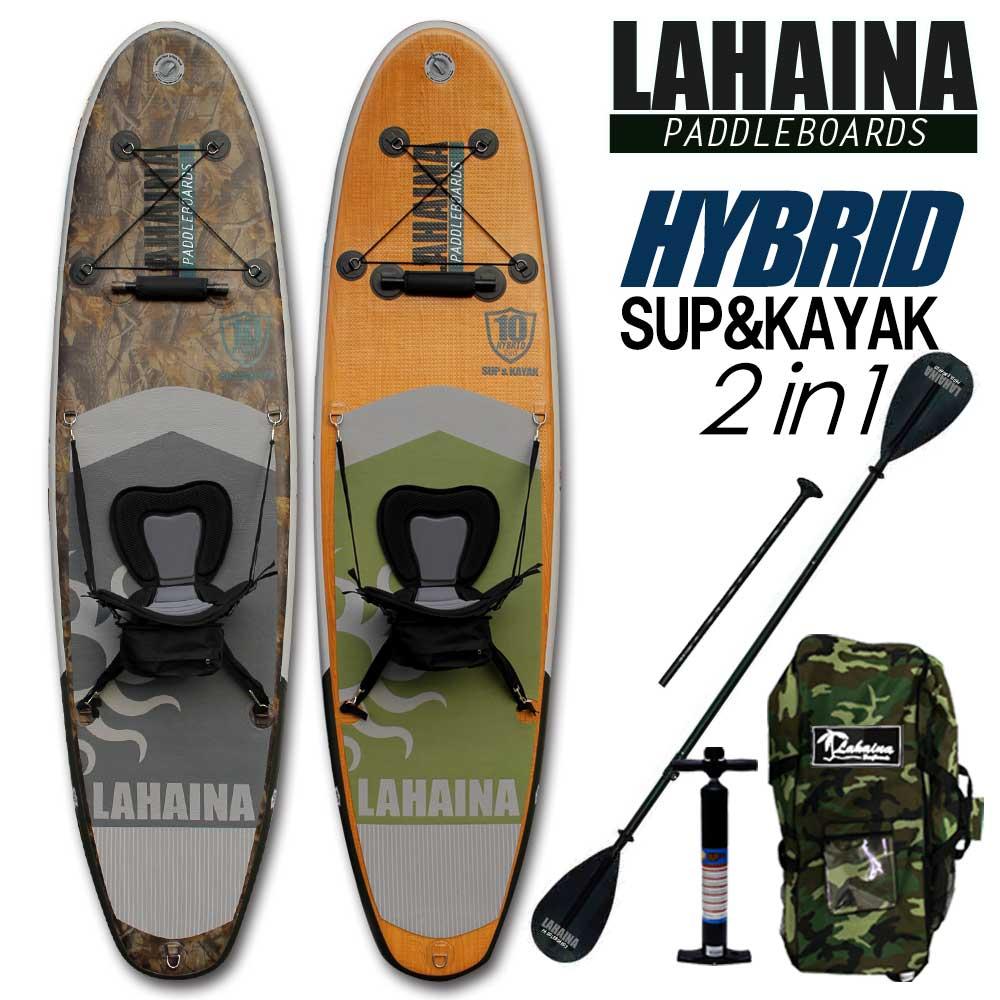 【送料無料】SUP サップ&カヤック インフレータブルパドルボード ラハイナ / LAHAINA SUP&KAYAK 10 ハイブリッドHYBRID スタンドアップパドルボード