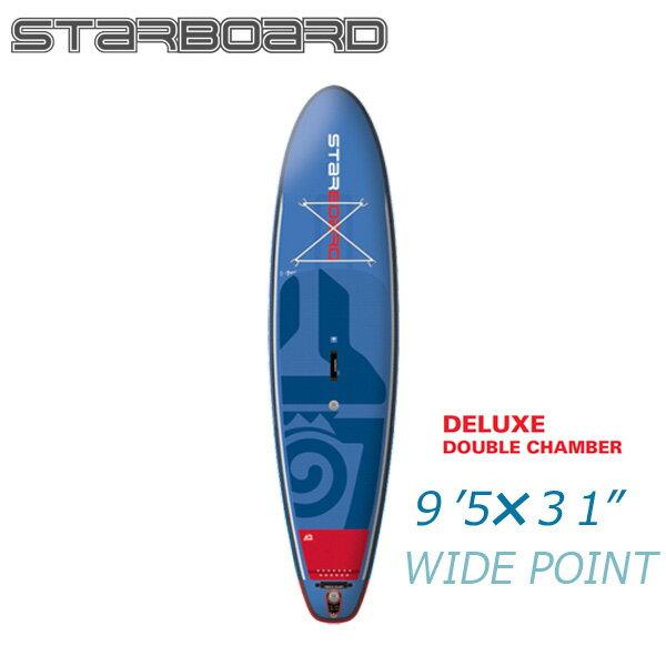 【送料無料】2018 STARBOARD WIDE POINT DELUXE 9'5 X 31 X 6 スターボード ワイドポイント デラックス SUP インフレータブル パドルボード サップ