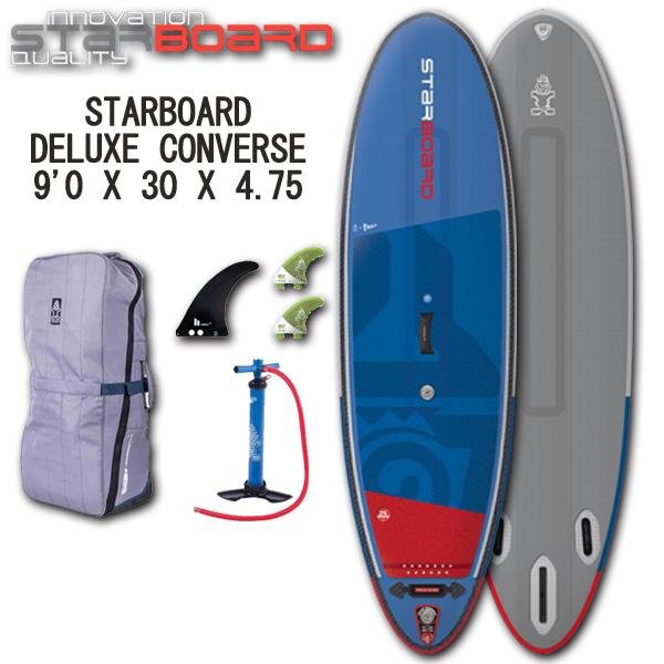 スタンドアップパドルボード スターボード デラックス コンバース サーフ 9'0 インフレータブル サップ 大人 子供 STARBOARD DELUXE CONVERSE SURF 9'0 2019 取寄せ商品