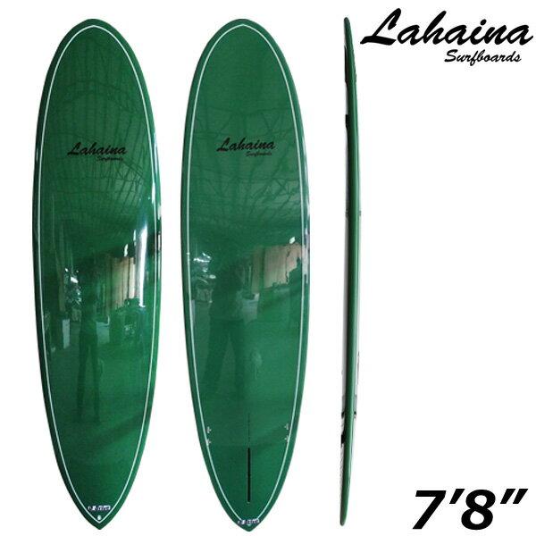 サーフボード ラハイナ / LAHAINA CLASSIC 7'8 ミッドレングス グリーン ファンボード 営業所止め 送料無料