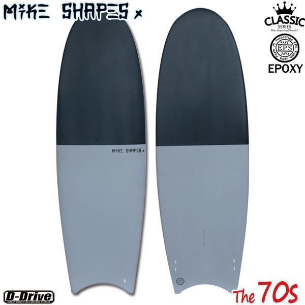 サーフボード マイクシェイプス / MIKE SHAPES MS The70s セブンティーズ ムーンテール 5'11 クラシック ツインフィン フィン付