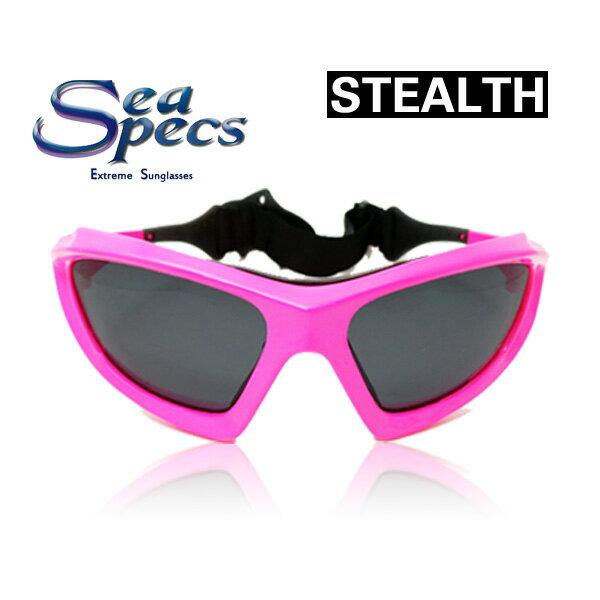 即出荷 SEA SPECS STEALTH / シースペック ウォータースポーツ用 サングラス ピンク メンズ レディース UVカット 偏光レンズ SUP サップ