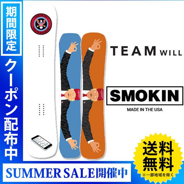 【送料無料】18-19 SMOKIN/スモーキン TEAM Will Bateman メンズ 板 スノーボード 予約商品 2019