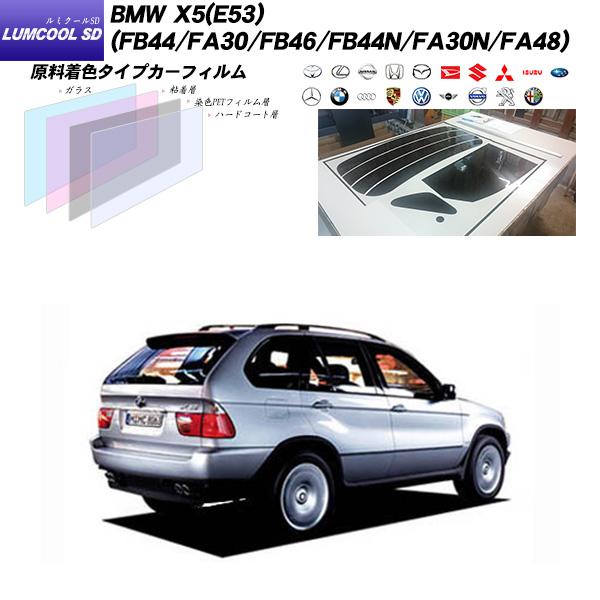 BMW X5(E53) (FB44/FA30/FB46/FB44N/FA30N/FA48) ルミクールSD リアセット カット済みカーフィルム UVカット スモーク