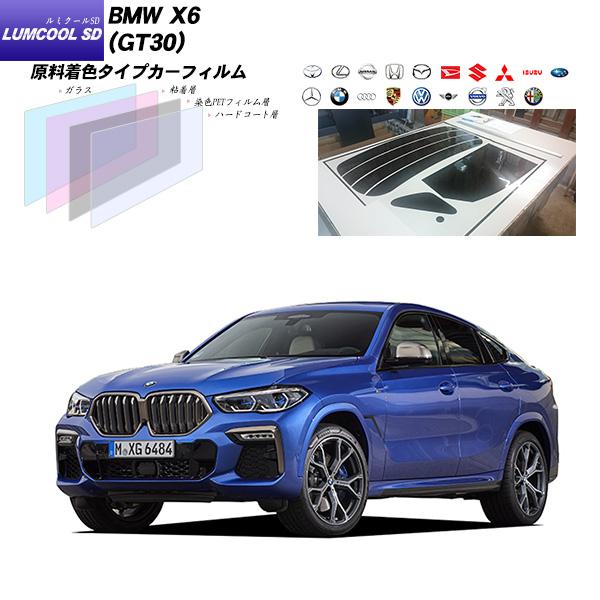 BMW X6 (GT30) ルミクールSD リアセット カット済みカーフィルム UVカット スモーク