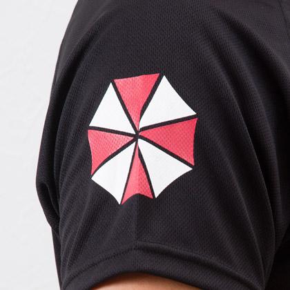 BIOHAZARD Umbrella BM/DRY 하프 슬리브 이블 BIOHAZARD 게임 의상 코스 프레 의상 캡 콤 콜라 보 행 크 HUNK 엄브렐러 Umbrella 셔츠 로고 T 밀리터리 남성 공기 총 콜렉터