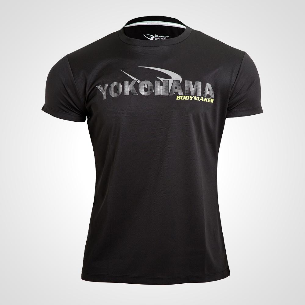 メーカー直売 BM DRY YOKOHAMA ハーフスリーブ BODYMAKER ボディメーカー 当店限定販売 格安 価格でご提供いたします 機能性ウェア 速乾タイプ ルーズタイプ ランニング シャツ 半袖 クールダウン トップス スポーツウェア マラソン 吸汗 トレーニングウェア ジョギング