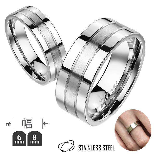 結婚指輪 婚約指輪 カップル指輪 ノンアレルギー ステンレス指輪 ステンレス リング 選べるリング幅 つや消しライン 金属アレルギー対応 結婚 ハイポリッシュ 指輪 ペアアクセサリー レディース メンズ ペアリング 値下げ 本日限定