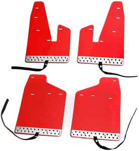 【GW~11日創業祭】デリカ D5 EVA樹脂製 マッド フラップ 泥除け レッド