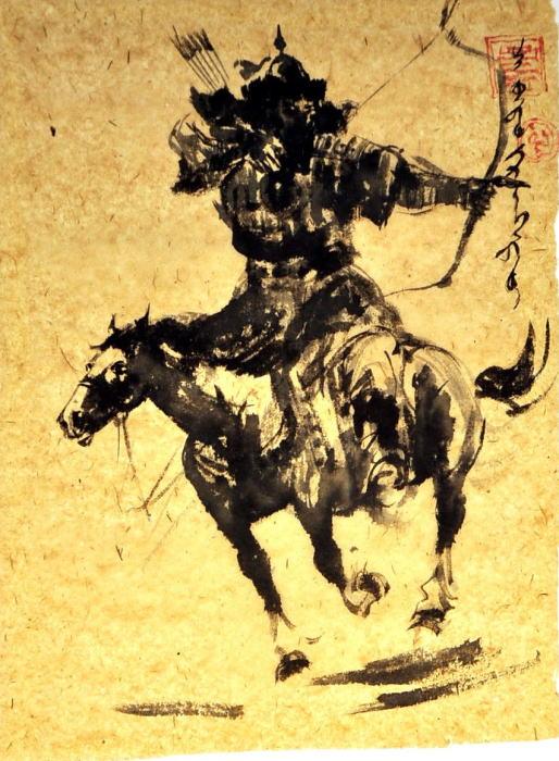 【送料無料】 モンゴル戦国時代画 【額 癒し 絵 寛ぎ インテリア 新築祝い  贈り物】