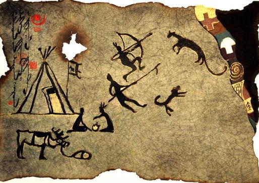 【送料無料】 モンゴル壁画模写2 【額 癒し 絵 寛ぎ インテリア 新築祝い  贈り物】