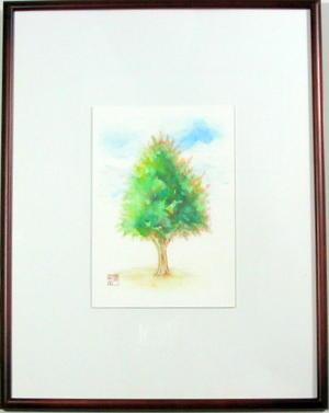送料無料 木のある風景 限定Special Price 日本画 新入荷 流行