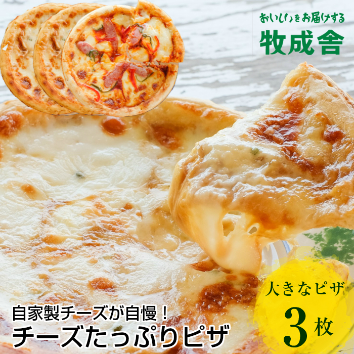自家製チーズたっぷりピザ3枚セット