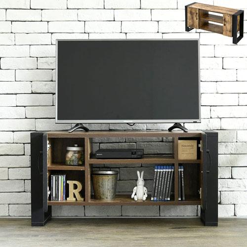 【39ショップ限定 エントリーでP5倍】 ブルックリンスタイル テレビボード 40型 幅90 高さ46 奥行33 ハイタイプ テレビ台 テレビラック 扉付き 収納 40インチ