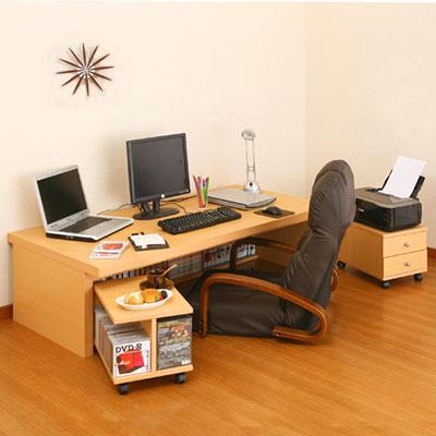 オフィスデスク 収納 木製デスク 机 パソコンデスク PCデスク パソコンラック 学習机 学習デスク フロアデスク 送料無料 ホワイト 白 ブラウン L ikea i おしゃれ