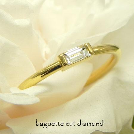 バケットダイヤリングK22/Pt9500.1ctダイヤ一粒ダイヤリング鍛造リング華奢リング細い指輪 ピンキーリング金属アレルギー対策エンゲージリング婚約指輪