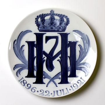 ロイヤルコペンハーゲン[Royal Copenhagen] メモリアルプレート ハーコン7世・マウド女王銀婚式 NoRNR199#rch004416