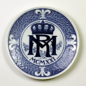 ロイヤルコペンハーゲン[Royal Copenhagen] メモリアルプレート マルグリース王妃とレネ王子ご成婚記念 NoRNR200#rch004456