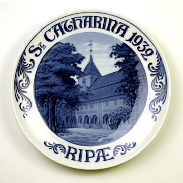 ロイヤルコペンハーゲン[Royal Copenhagen] メモリアルプレート リーベの聖キャサリーナ教会 NoRNR271#rch004495
