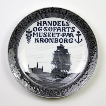 ロイヤルコペンハーゲン[Royal Copenhagen] メモリアルプレートクロンボー城と戦艦 RNR176#rch006768