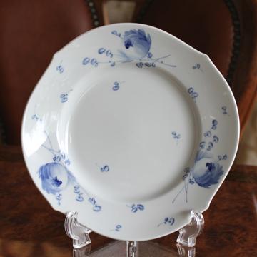 マイセン(Meissen) 青い花 22.5cmプレート No28472#msn001942