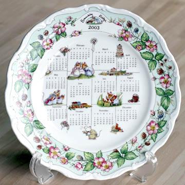 ロイヤルドルトン[Royal Doulton] ブランブリーヘッジ 2003年度カレンダープレート#ryd006543