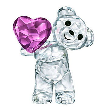 スワロフスキー 置物(Swarovski) クリスベア Kris Bear Take my heart #swv5427995