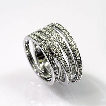 スワロフスキー(Swarovski) アクセサリー Spiral Ring 58 #swv1156306