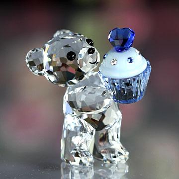 スワロフスキー 置物(Swarovski) クリスベア Kris Bear - Blue Cupcake #swv5051769