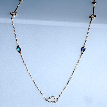 Accessory Crystal [Swarovski] acute necklace #swv5039191