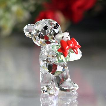 スワロフスキー 置物(Swarovski) クリスマス クリスベア 2014年度クリスマス限定品#swv5058935