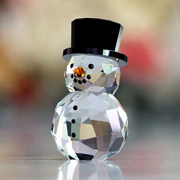 スワロフスキー 置物(Swarovski) クリスマス スノーマンとハット #swv5135852