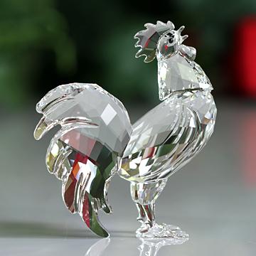 スワロフスキー 置物(Swarovski) 美しい鳥たち オンドリ #5135943