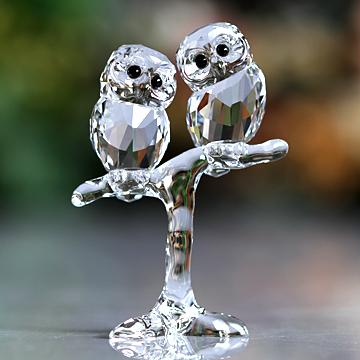 スワロフスキー 置物(Swarovski) 鳥 フクロウの赤ちゃん#swv5249263