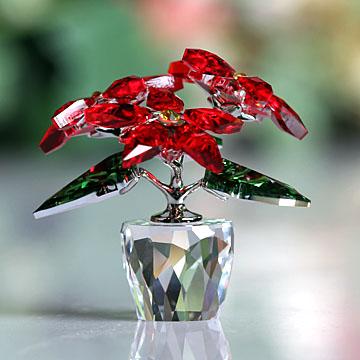 贈り物 スワロフスキー 置物(Swarovski) 置物(Swarovski) スワロフスキー クリスマス クリスマス ポインセチア#swv5291023, 暮らしのソムリエSHOP!:d09c0d90 --- polikem.com.co
