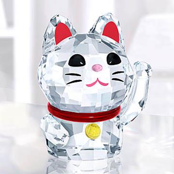 スワロフスキー 置物(Swarovski) 動物 招き猫 #5301582