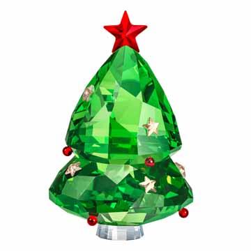 スワロフスキーSwarovski) クリスマスフィギュリンクリスマスツリー GREEN #swv5464888