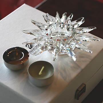 スワロフスキー 置物(Swarovski) クリスマス ソラリスキャンドルホルダー#swv236719