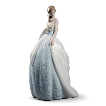 リヤドロ(Lladro リアドロ 陶器人形 置物) 乙女 特別な日 #ldr-8784