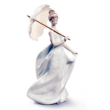 リヤドロ(Lladro リアドロ 陶器人形 置物) 乙女 優雅な装い #ldr-9170