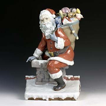 リヤドロ(Lladro リアドロ 陶器人形 置物) クリスマス サンタがやってきた(1500体限定)#ldr-1931