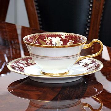 ノリタケ 食器サブライムティー碗皿(海老茶) Y59587/4403-2#nor007725